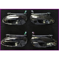 VT-VZ & WH-WK & WL ALL CHROME DOOR HANDLES SET SOLD COMPLETE SET (4) (T/W)