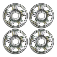 "16"" Steel Trailer Wheel 16x6.5"" Rims X4 Silver 6 Stud Caravan Camper Boat Trailer NEW"