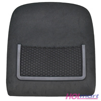 Ford BF Front Seat Backing/Map Pocket Grey Suede - (Left and Right)