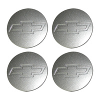 Holden Commodore VT VX VY VZ Chev Mag Wheel Rim Centre Caps SILVER Set of 4