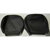 Holden Commodore VZ Calais Front Seat Headrest Leather Trim Cover PAIR BLACK