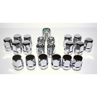 HSV / Holden Commodore VE VF WM WN Chrome Mag Wheel Nuts & Lock (Set) 22mm
