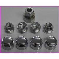 Holden VE VF Mag Wheel Lock Nut With Chrome Covers 22mm (Set of 4)