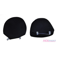 Ford FG G6 Front Head Rests Pair Black Cloth Trim