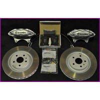 VE HSV GXP / Redline Brembo Front Brake Kit Calipers Pads Discs (Silver)