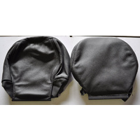 Holden VYII VZ Calais Front Head Rests Leather Trim Pair - Anthracite Black