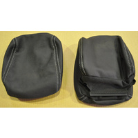 Holden HSV VE Leather Headrest Onyx Black Pair