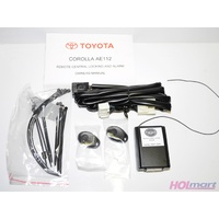 Toyota Corolla AE112 Remote Central Locking and Alarm Kit