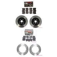 Holden VF GTS 6 Pot Piston Front Rear Discs & Front Rear Brake Pads Package - DBA Ferodo - Australian Made Quality