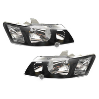 Holden Commodore VY SV8 / SS Head Light's Pair - Black Left & Right