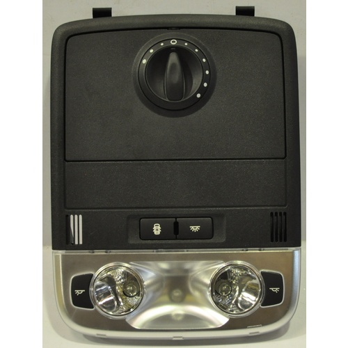Holden Commodore VE Front Sunglass Holder Map Light with Sunroof Switch W-Bth Onyx Black